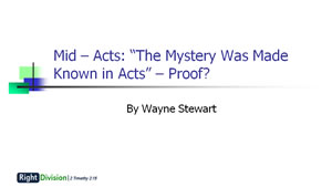 The Mystery Revealed in Acts